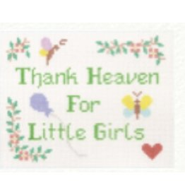 "Canvas Connection ""Thank Heavens for Little Girls""<br /> 7.25"" x 5.75"""