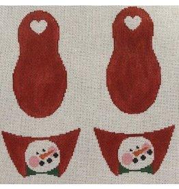 Kathy Schenkel Snowmen Slippers ornament