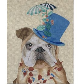 "Vallerie Bulldog with Milliners Hat<br /> 9"" x 11"""