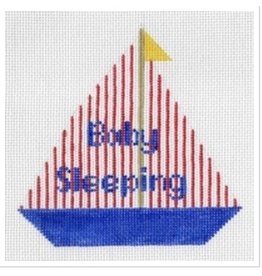 """All About Stitching Baby Sleeping Sail Boat<br /> 7"""" x 7"""""""