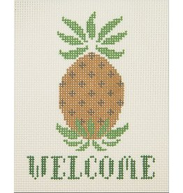 """All About Stitching Welcome - Pineapple<br /> 5"""" x 6"""""""