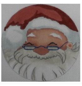 """All About Stitching Santa with Glasses<br /> 5"""" Round"""