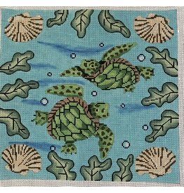"All About Stitching Sea Turtles<br /> 12"" x 11.5"