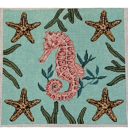 """All About Stitching Seahorse  w/Starfish<br /> 12"""" x 11.5"""""""