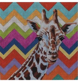 "Colors of Praise Zebra with colorful chevron background<br /> 10.5"" x 10.5"""