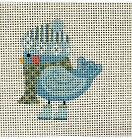 Danji Light Blue Bird - ornament<br /> Stitch Guide included