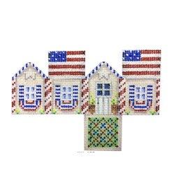 Associated Talent Americana Mini Cottage - ornament