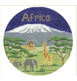 "Colonial Needle Africa Travel Round<br /> 4"" Rount"