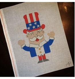 """A Poore Girl Paints Uncle Sam Peeble<br /> 5"""" x 7"""""""