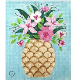 """Alice Peterson Pineapple with Flowers<br /> 8.5"""" x 10.25"""""""