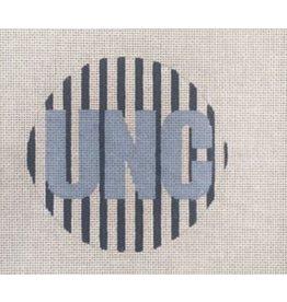 "A Poore Girl Paints UNC ornament<br /> 4"" Round"
