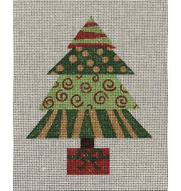 "A Poore Girl Paints Christmas Tree Square<br /> 6.5"" x 5"""