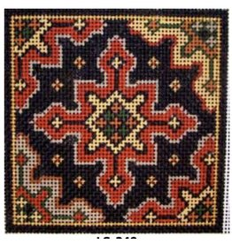 Associated Talent Red Persian Cross Coaster
