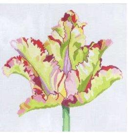 """Jean Smith Designs Royal GreenWave Tulip<br /> 15"""" x 15"""""""