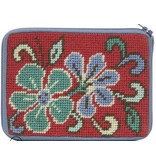 Alice Peterson Red Asioan Floral Coin purse/credit card case