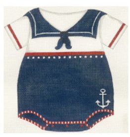"Alice Peterson Birth Announcement<br /> Boys Sailor Suit<br /> 8.75"" x 9.5"""