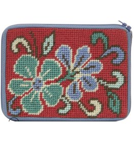 Alice Peterson Red Floral coin purse/credit card case