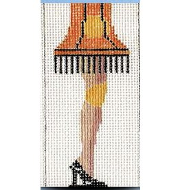 "2 Sisters Needlepoint A Christmas Story Leg Lamp ornament<br /> 4"" x 2"""