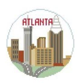 """Kathy Schenkel Atlanta Travel Round<br /> 4"""" Diameter"""