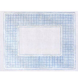 Griffin Designs Blue and White Check Frame