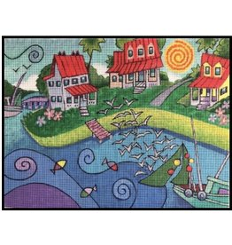 "Purple Palm Designs Tate Nation's ""The Old Village""<br /> 12"" x 9"""