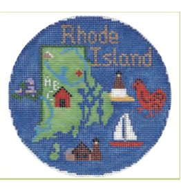 "Colonial Needle Rhode Island Travel Round<br /> 4"" Round"