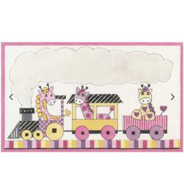 "Alice Peterson Girls Giraffee Train<br /> 12.5"" x 7.5"""