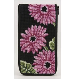 Alice Peterson Pink Gerber Daisies Eyeglass Case - Stitch & Zip