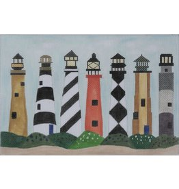 BB Needlepoint Design Lighthouses<br />10.25&quot; x 7&quot;