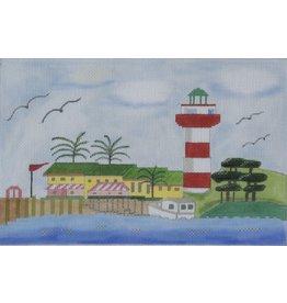 BB Needlepoint Design Hilton Head Lighthouse<br />9&quot; x 6&quot;