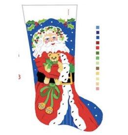 Deux Amis Santa & Teddy Stocking