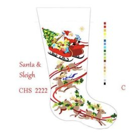 Deux Amis Santa and Sleigh Stocking