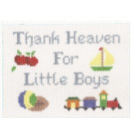 "Canvas Connection ""Thank Heavens for Little Boys""<br /> 7.25"" x 5.75"""