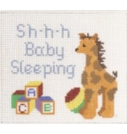 "Canvas Connection Giraffe Baby Sleeping<br /> 6.5"" x 5.5"""