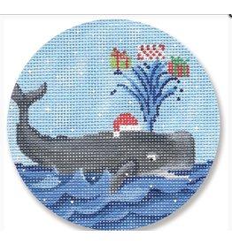 CBK Needlepoint Whale ornament