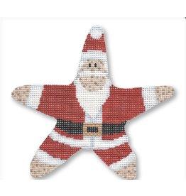 CBK Needlepoint Starfish Santa ornament