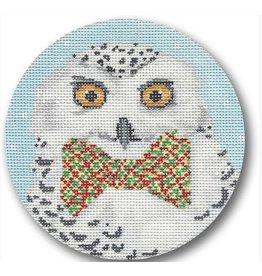 CBK Needlepoint Snowy Owl<br /> 4.5 Circle