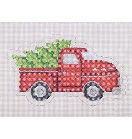 Kirk & Hamilton Red Pickup w/Christmas Tree