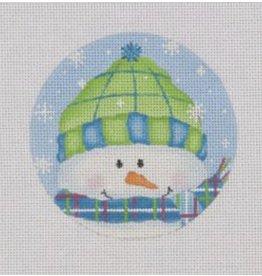 "Pepperberry Design Brr - snowman ornament<br /> 4"" Round"