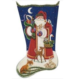Rebecca Wood Woodland Santa stocking