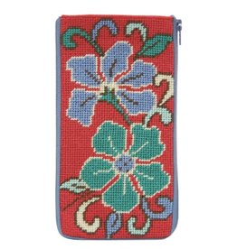 Alice Peterson Red Asian Floral Eyeglass Case