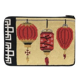 Alice Peterson Chinese Lanterns Cosmetic Purse