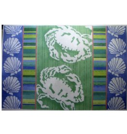 """Associated Talent Crab Silhouettes - Stripes &amp; Shells<br /> 12"""" x 18"""""""