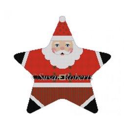 "Susan Roberts Tree Topper - Santa - Star Shaped<br /> 9"" across"