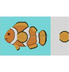 """Susan Roberts Clown Fish Tooth Fairy Pillow<br /> 9"""" x 7.5"""""""