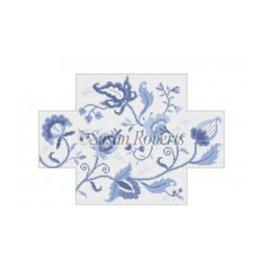 Susan Roberts Crewel Floral, blues brick cover