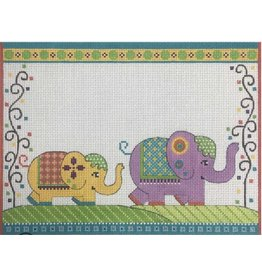 """Alice Peterson Elephants on Parade Birth Announcement<br /> 11&quot; x 8.5"""""""