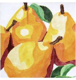 "Jean Smith Designs Pears<br /> 14"" x 14"""