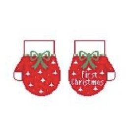 Kathy Schenkel First Christmas Mittens ornaments