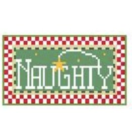 "Kathy Schenkel ""Naughty"" ornament<br /> 3.5"" x 2"""